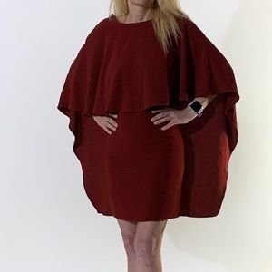 """Lulu's """"Best Is Yet To Come"""" Burgundy Dress Small"""